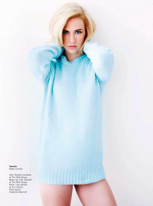 bohemea:  January Jones - Glamour UK by Simon Emmett, April 2013
