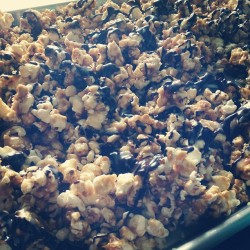 Home made zebra popcorn. @vineetadevi