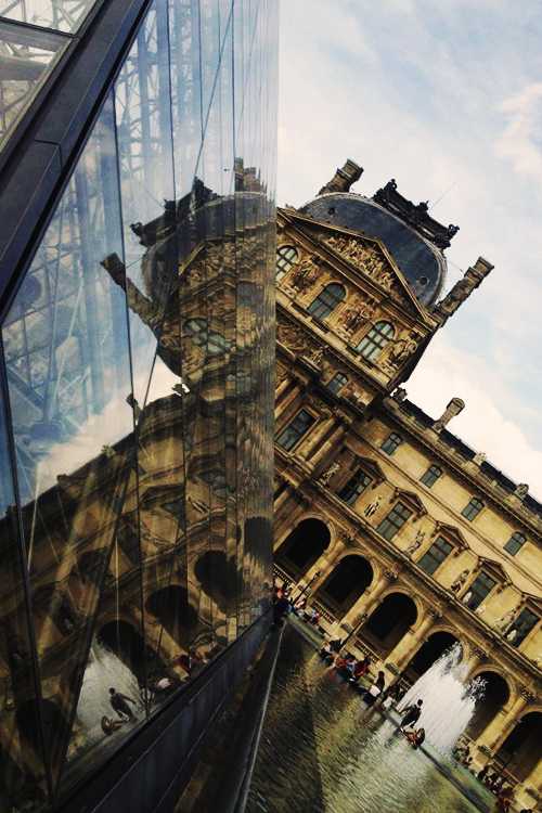 "slowmotionxx:    ""Louvre Reflected In I.M. Pei"" // Architecture   Paris <3"