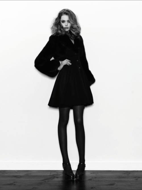 winter fashion black coat photoshot black and white fashion