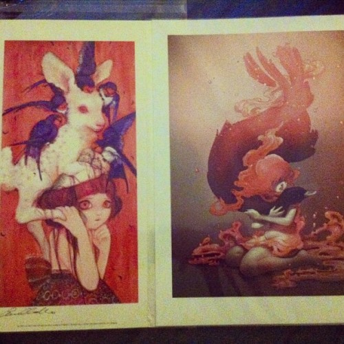 Got some beautiful art prints by Camilla D'Errico: Bambi Child Eggism & Superficial Substances