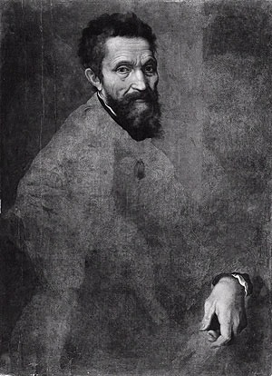 Unfinished portrait of Michelangelo, 1540, by Jacopino del Conte