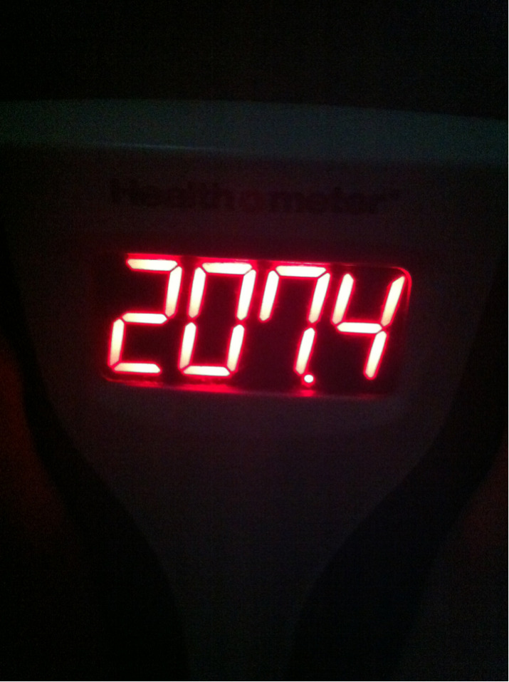 !!! I am .6 of a pound away from losing 20 lbs so far this year which is half way to my goal for the year! I feel pretty good.