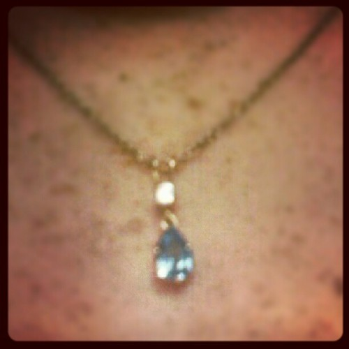 My amazing boyfriend got me a beautiful necklace with my birthstone in it:) #inlove#soBeautiful#MostAmazingBoyfriendEver<3