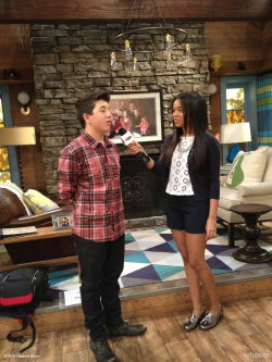 Interviewing Bradley Steven Perry on the set of Good Luck Charlie!View more Daphne Blunt on WhoSay