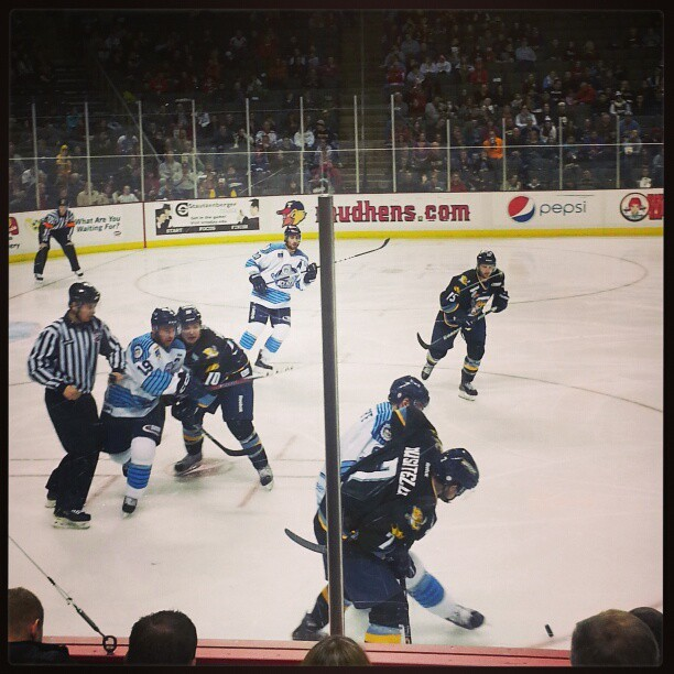 Walleye game! @jonbradford @imalazymom #toledowalleye #hockey