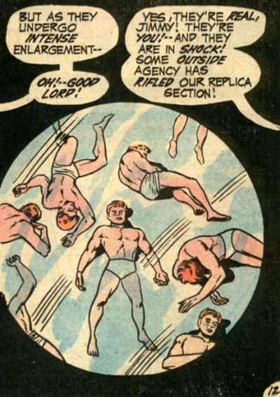 Tiny Jimmy Olsen clones in tiny underpants!