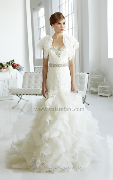 Swarovski embellished bridal gown by Val Stefani  Shop it now, here.