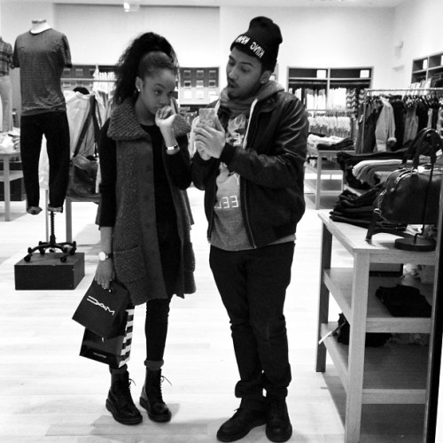 tylertaughtyou:  lucie-k:  khaillou:  Shopping ☺  they're so cute   I miss you.