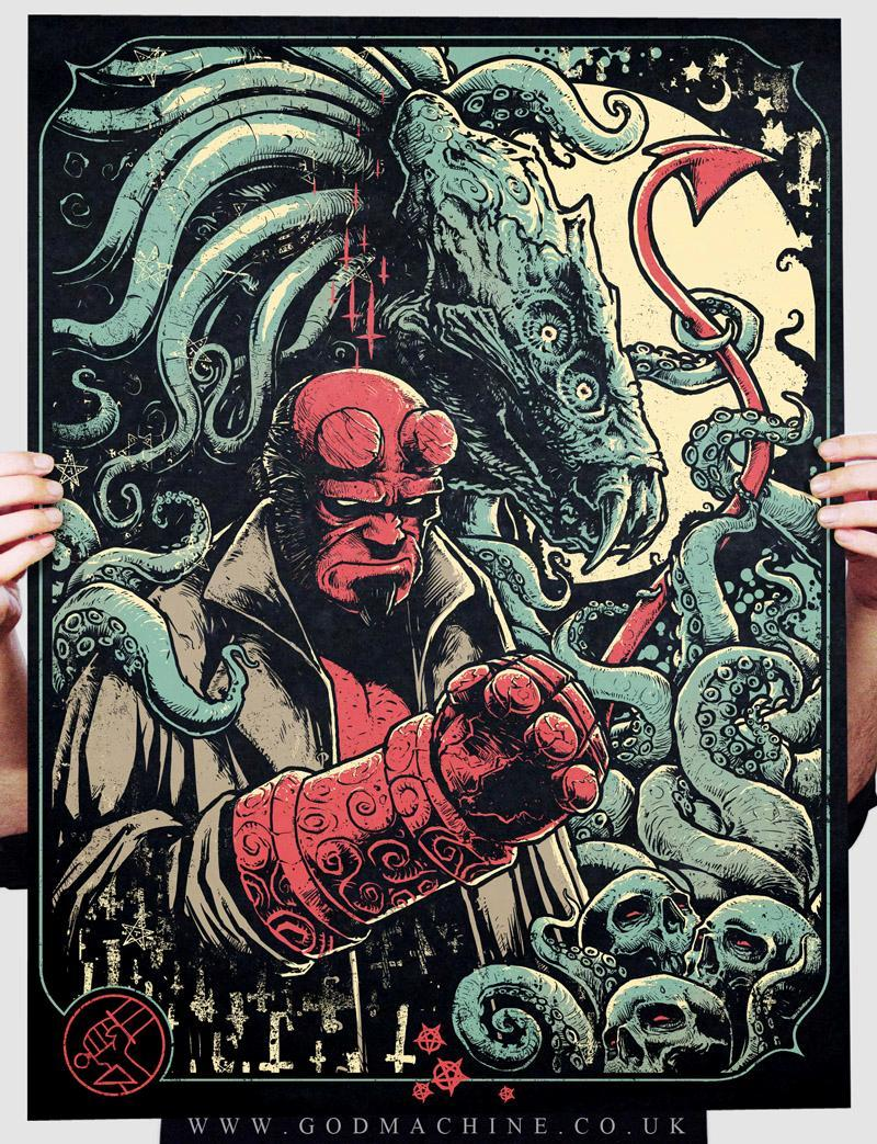 "The Hand of Doom by GODMACHINE / Tumblr / Blog / Store 18"" X 24"" Screen print, Part of the Gizmos and Gadgets art show at the Bottleneck Gallery / Facebook."