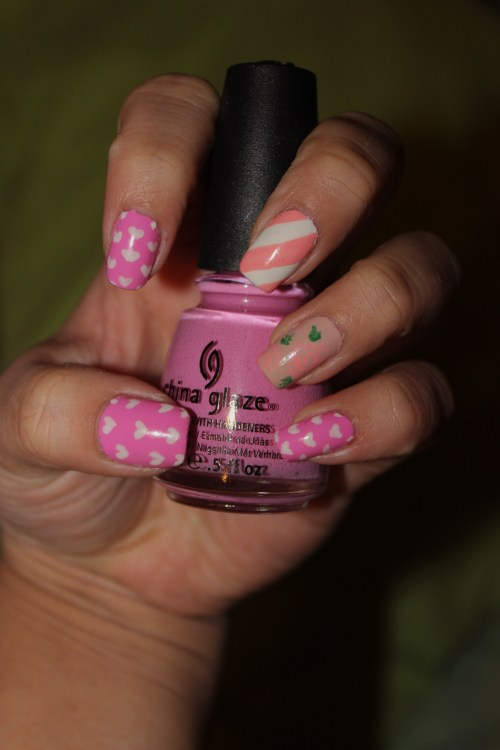 Valentine's Day Themed nail art using China Glaze's Dance BabyEnjoy :)