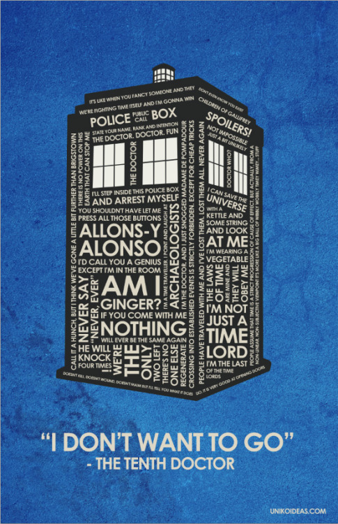 A Dr. Who quote poster