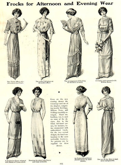 Frocks for Afternoon and Evening Wear As seen in Girls' Own Paper, 1912 100 years ago.
