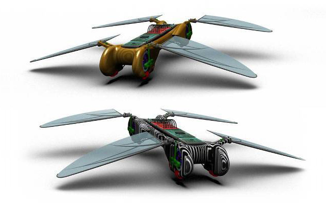 Robot Dragonfly, Micro Flying Insect That Gathers & Relays Information