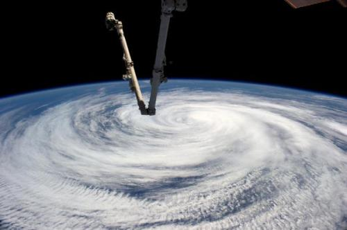 Tropical storm Marie, from the ISS. Taken by Alexander Gerst.