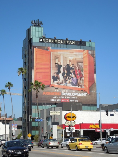 Arrested Development season 4 billboards around L.A.http://www.dailybillboardblog.com/2013/05/arrested-development-season-four-tv.html