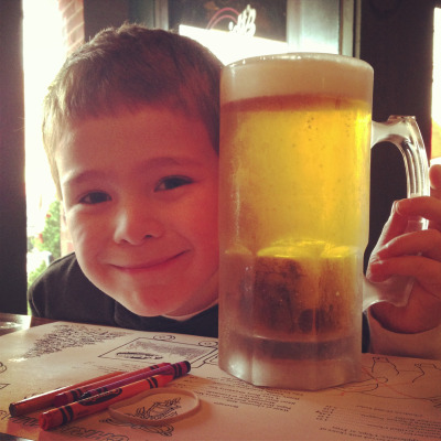 I ordered the kid head size beer.