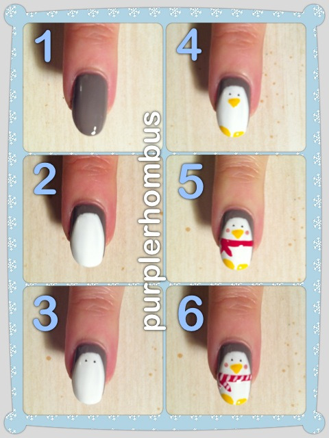 purplerhombusnails:  Penguins aren't that hard to do. :)