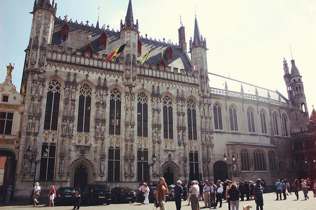 | ♕ |  Rathaus of Bruges, Belgium  | by © Kaity Barrett