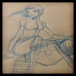 guymckinley:  Girl on a Motorcycle sketch.