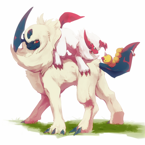alternativepokemonart:  Artist Shiny Absol by request.