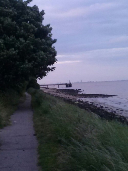 I had a nice walk on Hessle foreshore tonight. Also burnt 327 doing so. ;) ….
