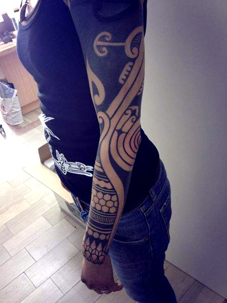 thievinggenius:  Tattoo done by Gerhard Wiesbeck.