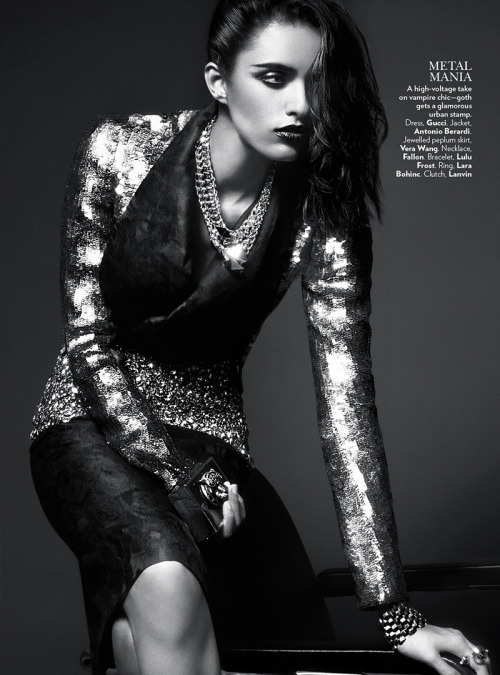 blackfashion:  Lakshmi Menon in HIGH GLOSS by Kevin Sinclair for Vogue India February 2013