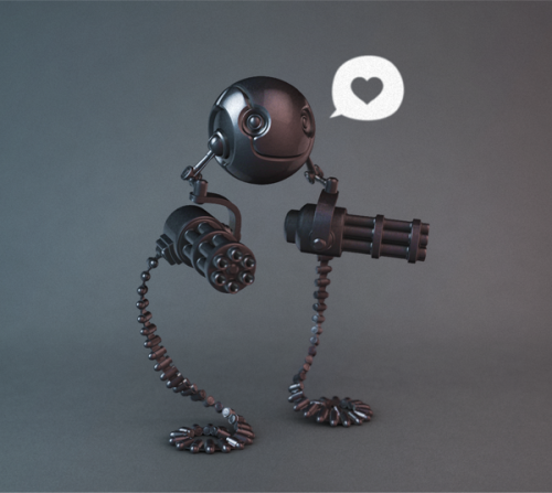 zbrush toy concept called 'friendbot' by juicefoozle