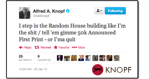 "(via ""Rogue"" Tweet From A.A. Knopf Sparks Conjecture 