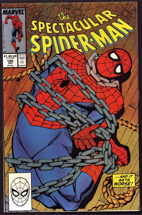 comicbookcollecting:  Spectacular Spider-Man Issue 145 … Marvel comics   '….and it gets worse!'