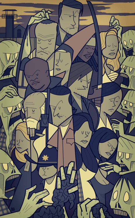 hello-zombie:  Walking Dead: Season 3 by Ale Giorgini