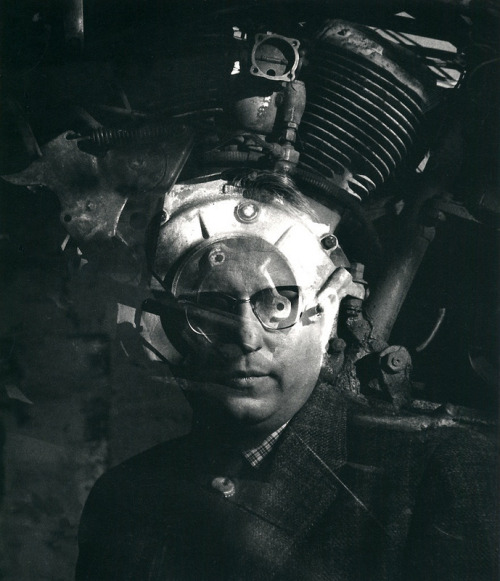 fouchtra:  regardintemporel: Jerry N. Uelsmann - Mechanical Man, 1959