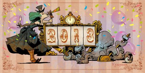 Happy New Year from Brian Kesinger's Otto and Victoria ^_^