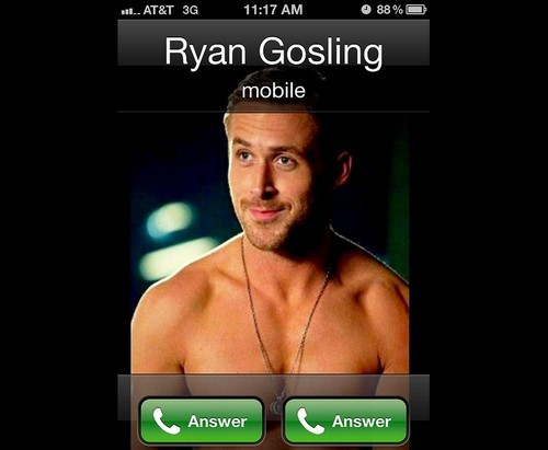 fuckyeahmcgosling:  Q: Have you seen that iphone photo where you call and you show up on caller ID and you only have answer and answer as options?Ryan Gosling: I actually created that app.