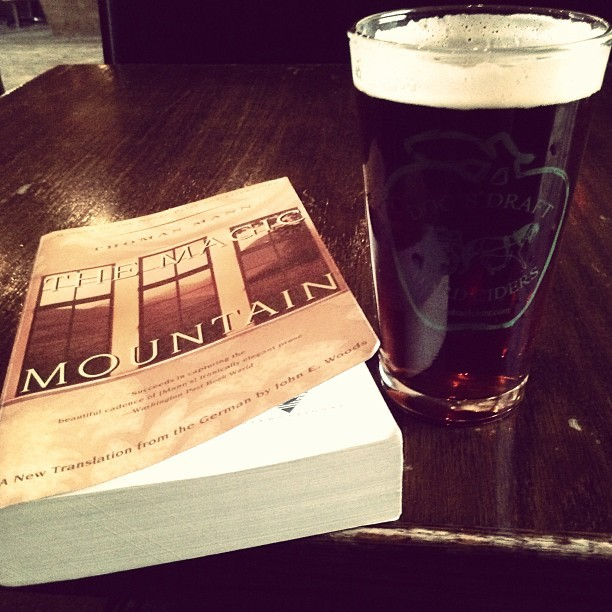 Book and a beer. Midweek days off are awesome.