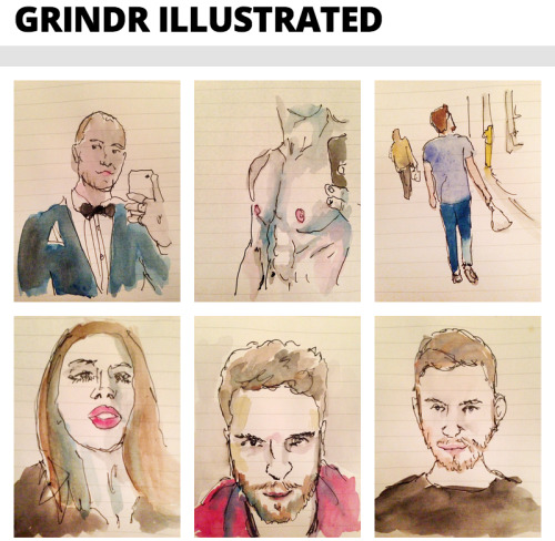 Grindr, illustrated by Ted!