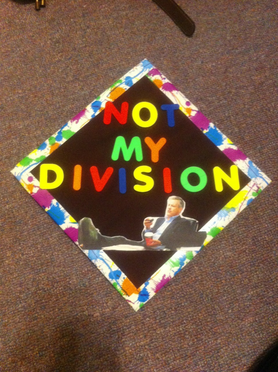 sherlock-and-his-hedgehog:  MY LESTRADE GRADUATION CAP HAS WORDS FOR YOU, 'REAL WORLD'