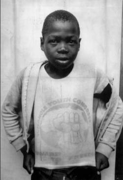 James Seipei (1974–1988), also known as Stompie Moeketsi, was a teenage African National Congress (ANC) activist from Parys in South Africa. He was kidnapped and murdered on 29 December 1988 by members of Winnie Mandela's bodyguards, known as the Mandela United football club. Moeketsi joined the street uprising against apartheid in the mid 1980s at age ten, and soon took on a leading role. He became the country's youngest political detainee when he spent his 12th birthday in jail without trial. At the age of 13 he was expelled from school.  Moeketsi was kidnapped on 29 December 1988 after a school rally, accused of being a police informer and murdered at the age of 14. His body was found in Soweto with his throat slit. Jerry Richardson, one of Winnie Mandela's bodyguards, was convicted of the murder.   He claimed that she had ordered him to abduct four young men from Soweto, of whom Stompie was the youngest. The four were severely beaten and Stompie's body was later recovered by the police.