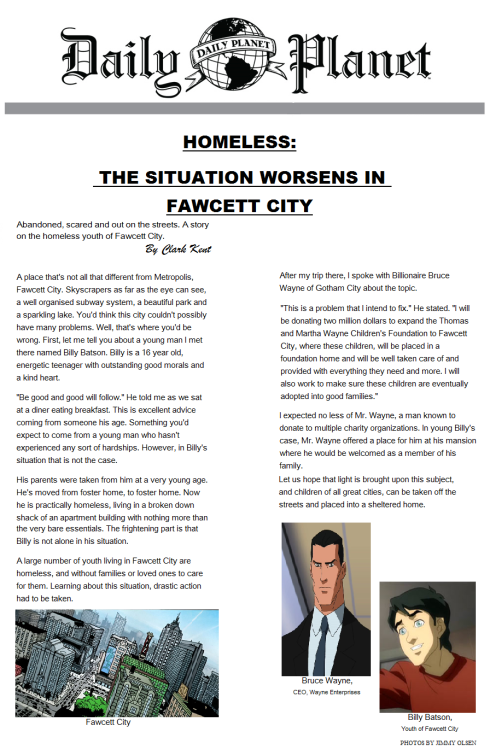 Fawcett City Homeless by Clark Kent @Kryptonian_Son_