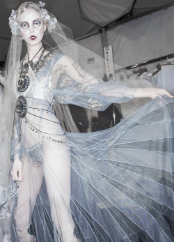 deprincessed:  Tanya Dziahileva backstage at John Galliano F/W 2009