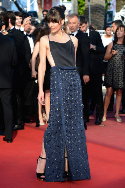 fuckyeahhotactress:  Milla Jovovich - 'Cleopatra' premiere at the 66th Cannes Film Festival 5/21/13