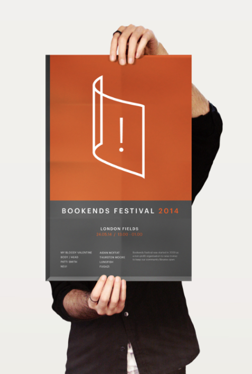 My poster design for Bookends Festival