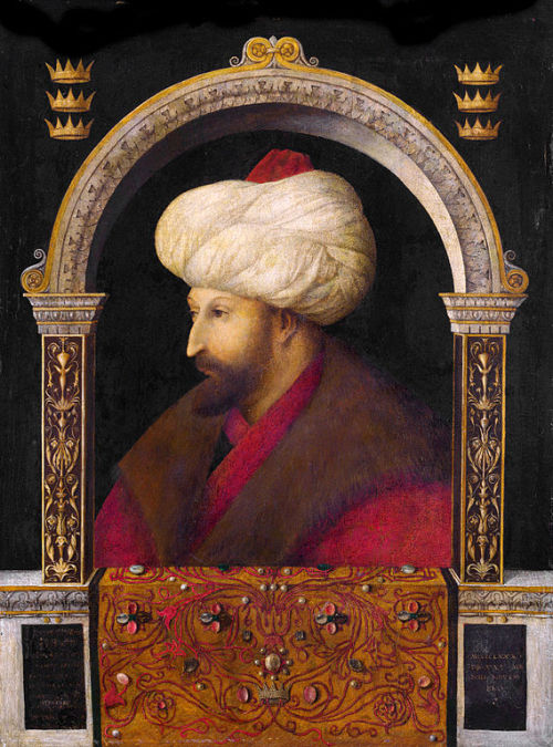 the-faces-of-art:  gentile bellini, portrait of sultan mehmed II. fatih, 1480 (x)