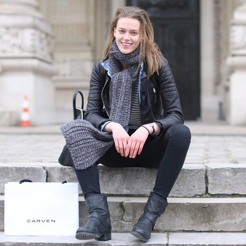 #modeloffduty @tessonherway at #PFW (at Grand Palais)