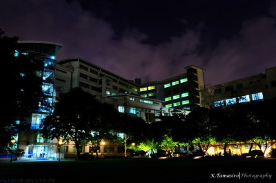 the-four-corners:  My school, Far Eastern University (FEU) @ night…….