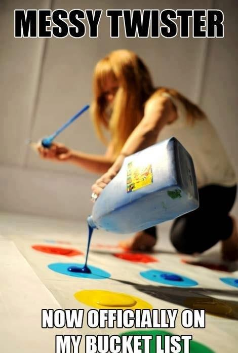 Yesssss…… How long has it been since you've played Twister? I didn't even know they had a dance version out, lol.
