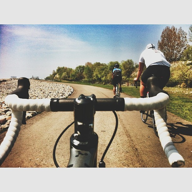 Ride out to Frenchman's Bay with these two fine gents @eurogang @perspecticus  this morning. Always a pleasure. #fromwhereibike #victoriadaytofrenchmansbay #argon18bike #roadcycling #biketo