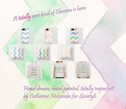 Watercolor Chevrons by Catherine Holcombe | Society6 on We Heart It - http://weheartit.com/entry/61821642/via/aftermyart   Hearted from: http://society6.com/catherineholcombe/Watercolor-Chevrons-0ru