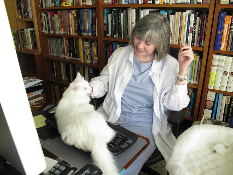 """It's an honor being Anne Rice's Assistant."" - says Oberon. Photo by ©Anne Rice"